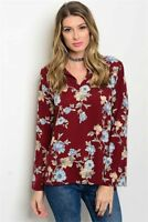 🎉SALE!! NWT Women's Floral Long Sleeve Blouse USA Made Small BOUTIQUE TOP