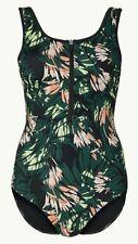 ex M/&S Womens Swimming Costume Swimsuit Swimwear Padded Bust Black /& White