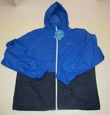 Mens Columbia Royal Blue Water Resistant Rockwell Falls Windbreaker Jacket Large