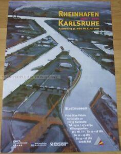 GERMAN EXHIBITION POSTER 2001 - RHEINHAFEN KARLSRUHE rhine haven art