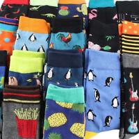 Cool Harajuku Men Hip Hop Crew Sock Food&Fruit Animal Long Winter Warm Socks