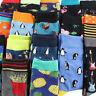 1Pair Cool Food Animal Printed Hip Hop Crew Socks Men Harajuku Knee-high Socks