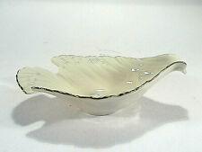 Lenox Dish Bowl Dove Shape Ivory Hand Decorated w/24 K Gold Trim