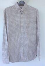 Next Men's Shirt Check White Long Sleeve UK Medium M AT47 100% Cotton