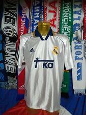Maglia Calcio Real Madrid 1998-99 Home Adidas Teka Size L Spain Jersey