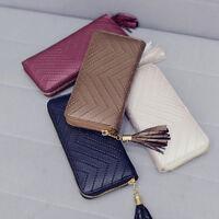 New Womens Fashion PU Leather Wallet Case Purse Lady Long Handbag Card Holder
