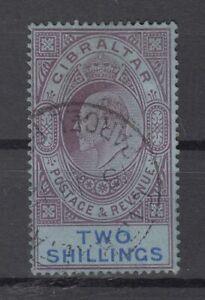 DS8825/ BRITISH GIBRALTAR – KEVII – SG # 72 USED – CV 75 $
