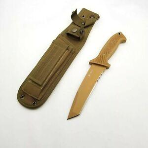"""CRKT Knives M60-16NKD SOTFB knife  LARGE 6"""" TANTO KNIFE DESERT TAN"""