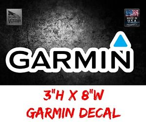 GARMIN GPS DECAL STICKER USA TACKLE BOX LURE FISHING BOAT TRUCK CAR WINDOW Bait