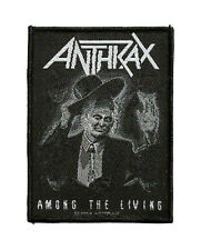 Anthrax Sew On Patch - Among The Living Battle Music Band 083-H