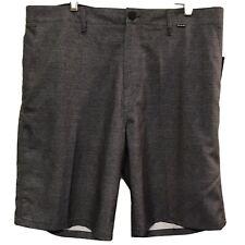"Hurley Men's Size 36 Benton Walkshorts Micro Stripe Casual Gray 10"" Inseam NEW"