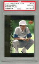 2001 Upper Deck Golf Tiger Woods Tiger Tales TT3 PSA 8