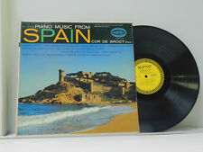 Cor De Groot LP Piano Music From Spain on Epic