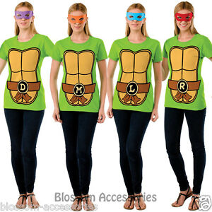 CL488 Teenage Mutant Ninja Turtles TMNT Womens Adult Costume T-Shirt Shirt Top