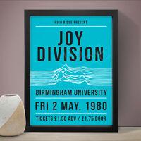 JOY DIVISION Birmingham Uni Gig Poster Music Print