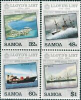 Samoa 1984 SG673-676 Lloyd's List set MNH