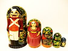 "Alkota Russian Authentic Collectible Nesting Doll ""Nutcracker"", 6.5"""