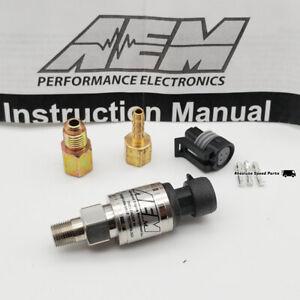NEW AEM 5 BAR Map Sensor Kit 75PSIa Stainless AEM Manifold Pressure 30-2130-75