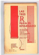 Panfleto Las Tres R Para El Retardado Asociacion Pro Ninos Retardado Puerto Rico