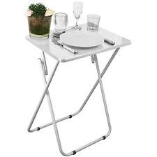 Beistelltisch 48x38cm Gartentisch Falttisch Serviertisch Computertisch Weiß 1B