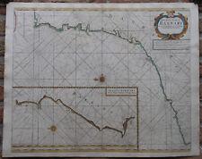 Antique Print-SEA CHART-AFRICA-MOROCCO-TANGER-ESSAOUIRA-Thronton-1707