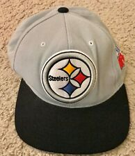 PITTSBURGH STEELERS MITCHELL & NESS NFL VINTAGE BLACK/GRAY SNAPBACK HAT *1 CENT*