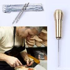 Kit Repair Sewing Shoe Leather Cobbler Needle Pliers Set Scissors Hand Punch Pro