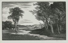 A fine pencil signed Thomas Nason wood engraving, New England Stream