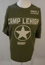 Captain America green Camp Lehigh Steve Rogers T-shirt 2XL Marvel Avengers