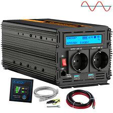 Convertisseur 12V 220V 230V 1500W 3000W pure sinus onduleur LCD 2 USB