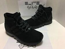 NWT ADIDAS AQ8433 ZX FLUX LIGHTWEIGHT WINTER SNEAKER BOOTS CORE BLACK Men's 10