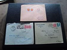 FRANCE - 3 enveloppes 1946 1948 1949 (cy92) french