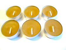 Naturprodukt 100% Bienenwachs 6 Kerzen Teelicht Beeswax Candles (0,83€/Stück)