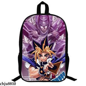 Yu-Gi-Oh! Print Backpack Fashion Knapsack Unisex Student Schoolbag Zip Packsack