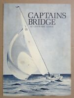 1950s CAPTAINS BRIDGE Restaurant Menu, Lewis Bay Lodge, Massachusetts