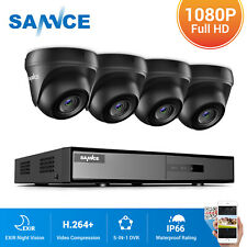 SANNCE Dome CCTV 1080P Camera 4CH H.264+ 5IN1 DVR Home Security Surveillance Kit