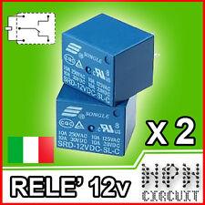 2X Relè 12V DC Relay NA e NC 250V 10A Arduino 5 pin, PIC Monostabile SL-C