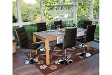 6x Stuhl Kunstleder schwarz Küchenstuhl Design Drehstuhl Lehnstuhl Wohnzimmer