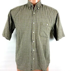 Box Office Boy's Shirt Size Large Button Up Short Sleeve Small Plaid