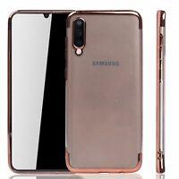 Samsung Galaxy A50 Étui Coque pour Portable Sac de Protection Bumper Rose