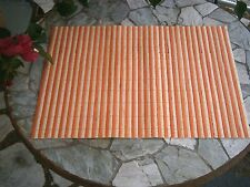 36 - BAMBOO PLACE MATS PEACH & TAN PARTY LUAU WEDDING RECEPTION BARBECUE $1 EACH