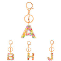 A-Z Word Glitter Resin Acrylic Keychain Keyring Handbag Charms Gifts Keyrings1PC