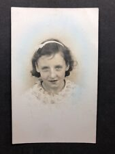 Vintage Postcard: RP Anon. People #B234: Girl With Ribbon In Hair