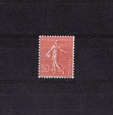 VARIETE  Semeuse lignée 50c rouge  faux de Marseille num: 199 n ** signé