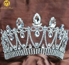 Royal Wedding Tiara Pageant Crown Crystal Bridal Headpiece Prom Costume Art Deco