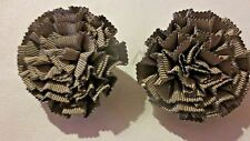 Lot 2 Older Fashion Scarf or Shoe Clips- Dusty Color  Cloth Floral Motif