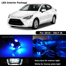5PCS Blue Interior LED Bulbs for 2016 2017 Scion Yaris iA White for License
