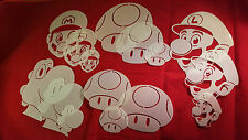 YOUTH ADULT T SHIRT HAT AIRBRUSH STENCILS MARIO AND FRIENDS SET OF 15 FREE SHIP