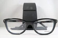 Prada VPR 05R 1AB-1O1 Shiny Black New Eyeglasses 53mm w/Case