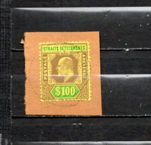 1892-96 Straits Settlements QV  Top Value RARE  USED